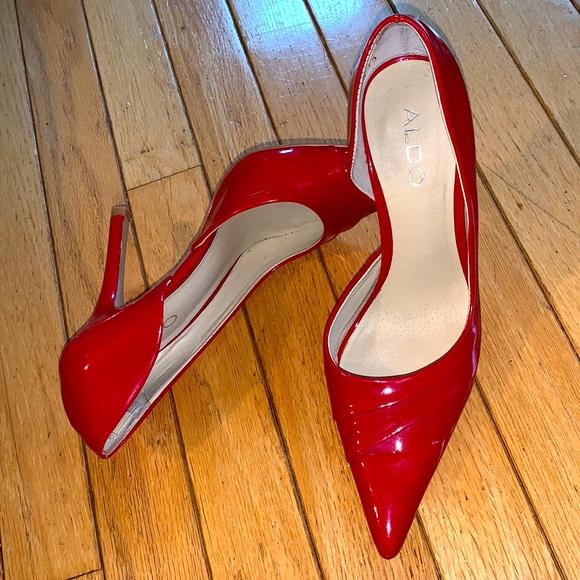 Red Patent Leather Pumps Aldo